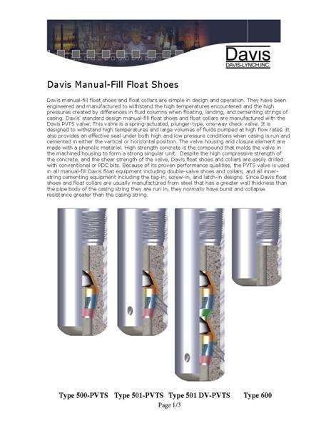 Manual Fill Float Shoes